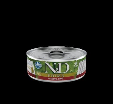 Alimento Úmido N&D Farmina Prime Frango e Romã para Gatos Filhotes - 80g