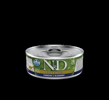 Alimento Úmido N&D Farmina Prime Cordeiro e Blueberry para Gatos Adultos - 80g