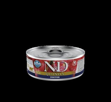 Alimento Úmido N&D Farmina Quinoa Dgestion para Gatos Adultos - 80g