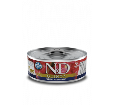 Alimento Úmido N&D Farmina Quinoa Weight Management para Gatos Adultos - 80g