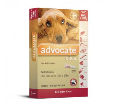 Antipulgas Advocate Bayer para Cães de 10kg a 25kg - 1 Unidade