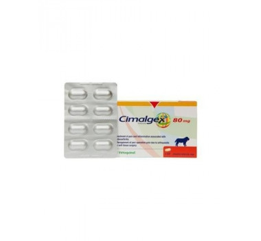 Anti-Inflamatório Cimalgex Vetoquinol 80mg para Cães - 8 Comprimidos