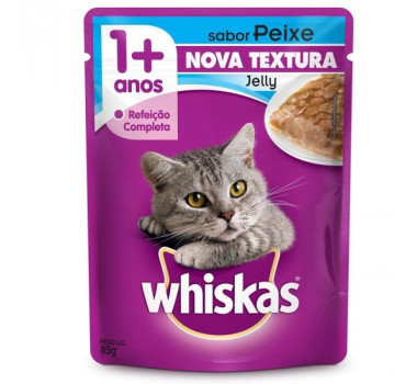 Alimento Úmido Sachê Whiskas Peixe Jelly Mars para Gatos - 85g