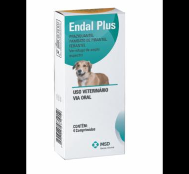 Vermifugo Endal Plus MSD para Cães - 4 comprimidos