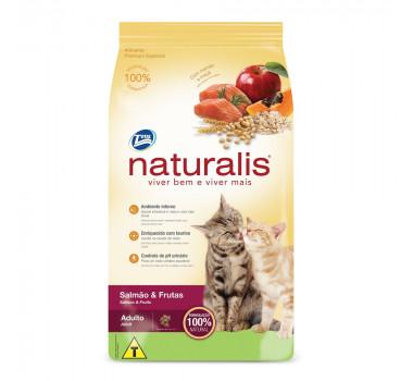 Ração Seca Naturalis para Gatos Adultos com Sabor de Salmão e Frutas 1kg