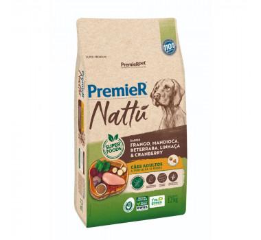 Ração PremieR Nattu Mandioca para Cães Adultos - 12kg