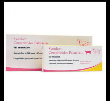 Synulox 250mg Amox. trihidratada cão/gt 10comp