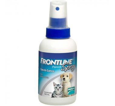 Spray Antipulgas e Carrapatos Frontline Merial para Cães e Gatos - 100ml