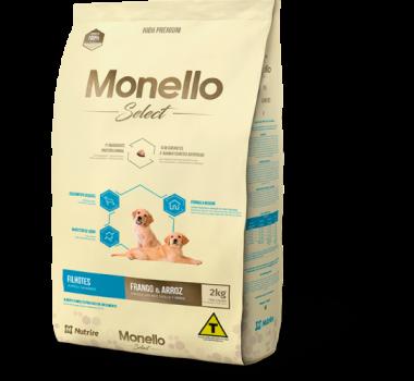 Ração Seca Monello Select Frango e Arroz Nutrire para Cães Filhotes - 2Kg