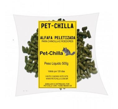 Alfafa Peletizada Pet-Chilla para Chinchilas e Roedores - 500g