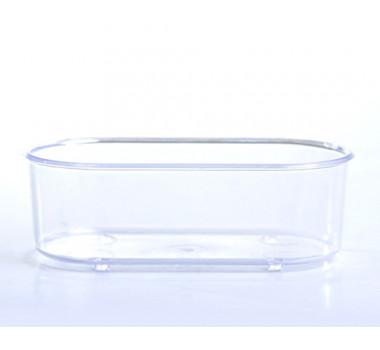 Banheira Plástica Cristal Oval Mr. Pet para Pássaros - Pequena
