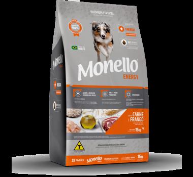 Ração Seca Monello Dog Energy Carne e Frango Nutrire para Cães Adultos - 15Kg