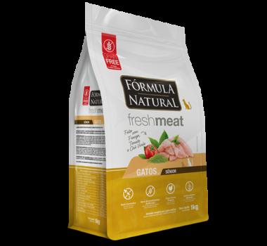 Ração Seca Fórmula Natural Fresh Meat Sênior Frango, Tomate e Chá Verde para Gatos Idosos