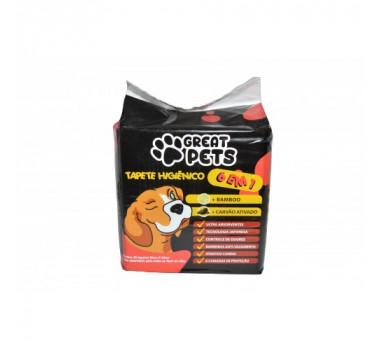 Tapete Higiênico Great Pets Carvão Ativado 80x60 - 30 unidades