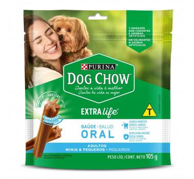 Petisco Dog Chow Extra Life Saúde Oral Purina para Cães de Mini e Pequeno Porte - 7 unidades