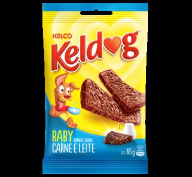 Bifinho Keldog Baby Carne e Leite Kelco para Cães Filhotes - 65g