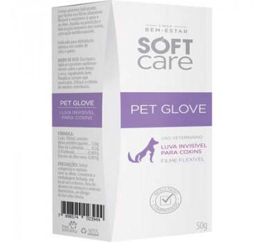 Loção Hidratante Pet Glove Soft Care Pet Society para Cães e Gatos - 50g