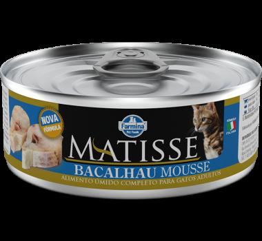 Alimento Úmido Completo Matisse Bacalhau Mousse Farmina para Gatos Adultos - 85g
