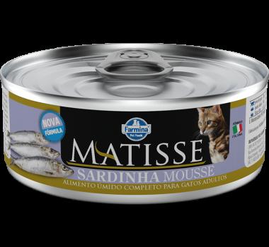 Alimento Úmido Completo Matisse Sardinha Mousse Farmina para Gatos Adultos - 85g