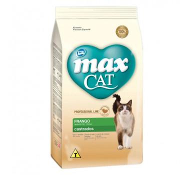 Ração Seca Max Cat Professional Line Frango Total para Gatos Castrados