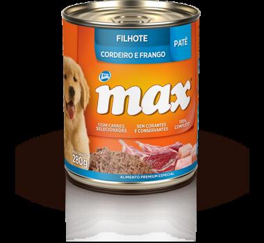 Alimento Úmido Patê Max Dog Cordeiro e Frango Total para Cães Filhotes - 280g