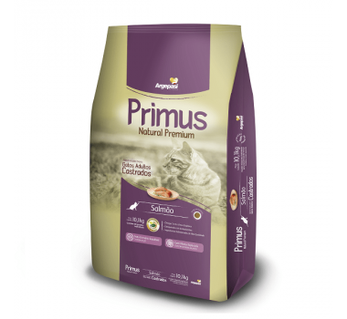 Ração Seca Primus para Gatos Castrados com Sabor de Salmão 3kg
