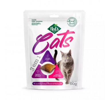 Snacks Nats Cats 3 em 1 para Gatos - 60g