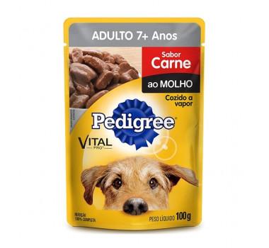 Alimento Úmido Sachê Pedigree Carne ao Molho 7+ Mars para Cães Acima de 7 Anos - 100g