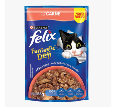 Sachê Felix Fantastic Deli Sabor Carne 85g