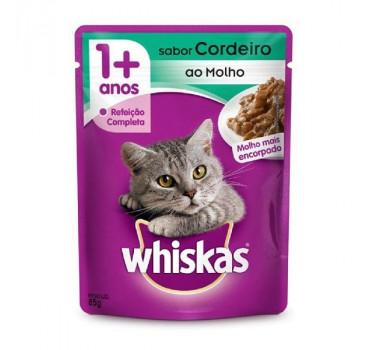 Alimento Úmido Sachê Whiskas Cordeiro ao Molho Mars para Gatos Adultos - 85g